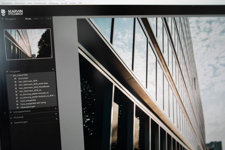 Screenshot Lightroom Presets synchronisieren