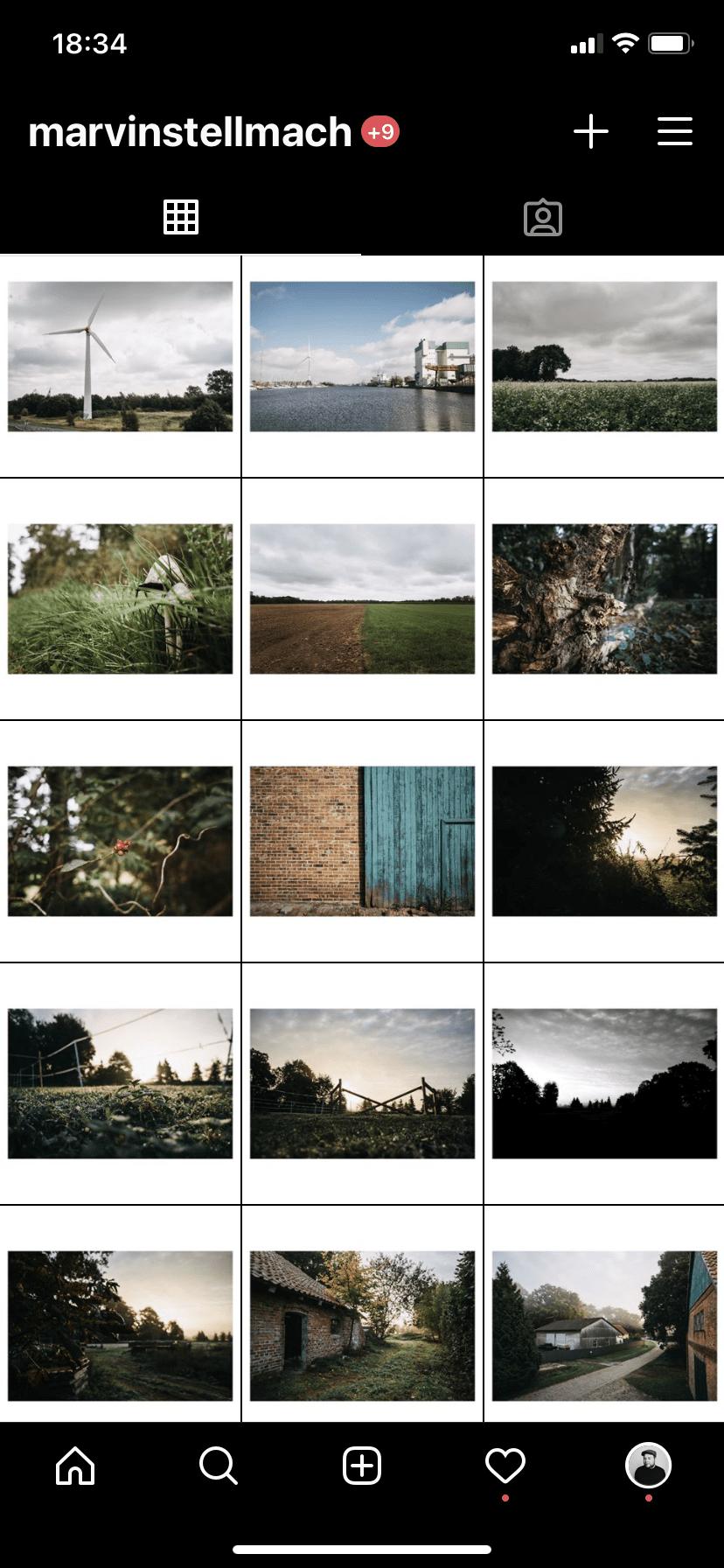 weißer Rand um Bilder für Instagram